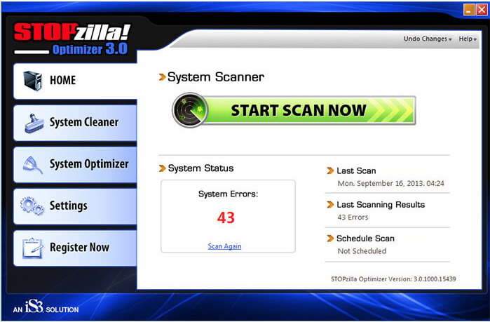 Update PC STOPzilla optimizer Tune-Up,Clean Fix Registry,Defrag,Speed Up